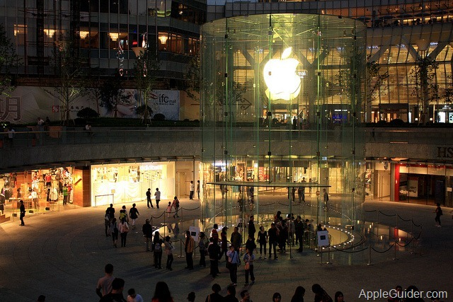 Apple_Stores_Pudong_Shanghai_exterior_001_at_night