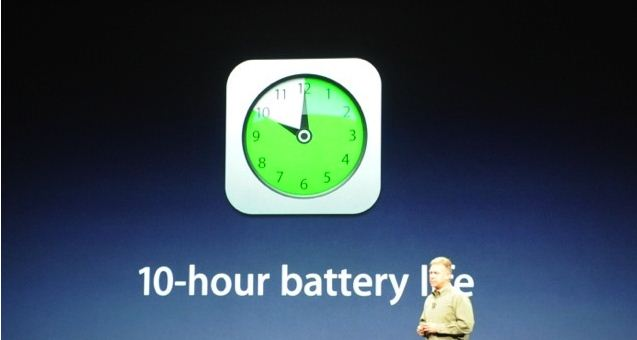 the new iPad 10 hours battery life