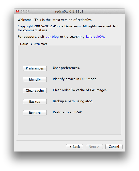 download redsn0w 0.9.11b1 to downgrade iphone 4s