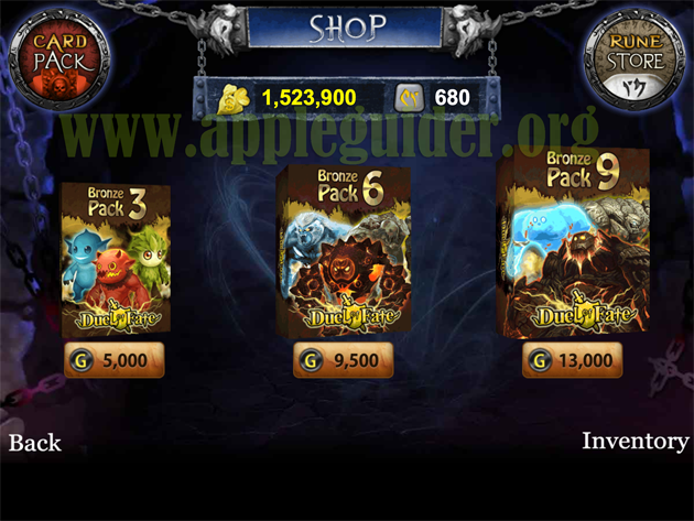 Duel of Fate hack unlimited golds and runes