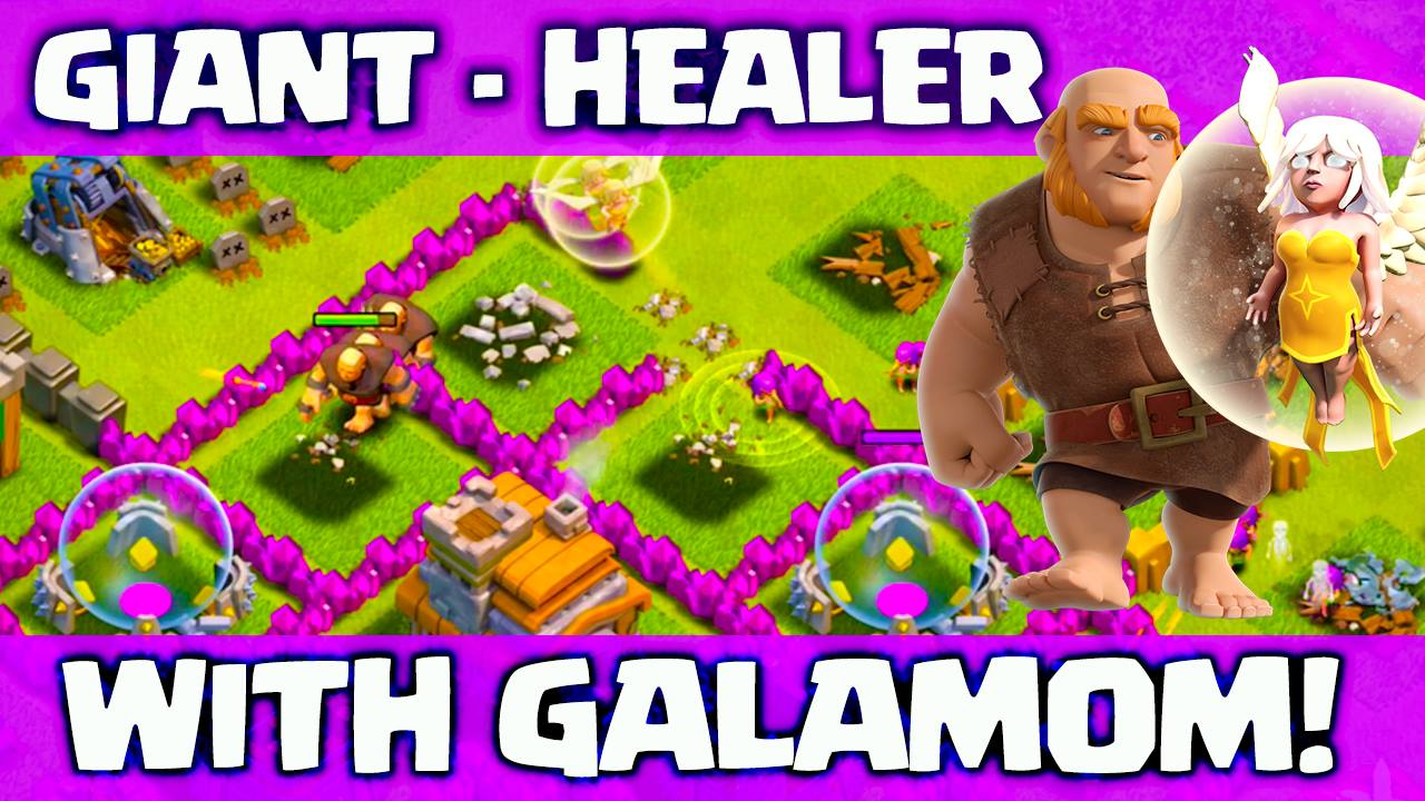 Giant and Healer attack